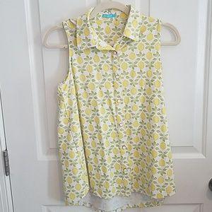 J. McLaughlin Melly Lemoncello button blouse